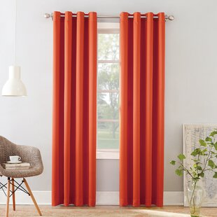 Ginnifer Solid Room Darkening Grommet Single Curtain Panel