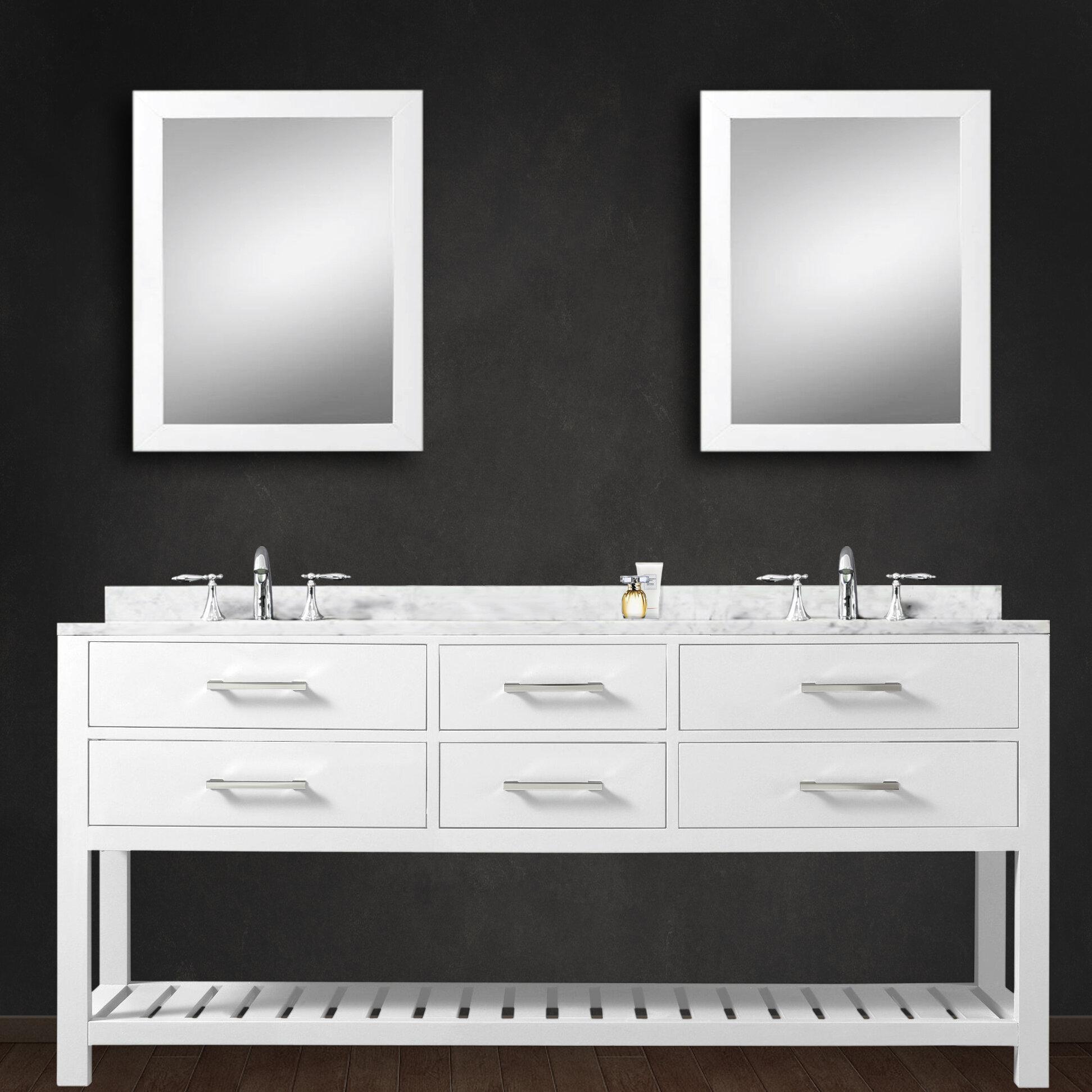 Contemporary Office Interior Design, Perego 60 Double Sink Bathroom Vanity Set With Mirror Reviews Allmodern