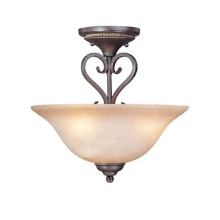 Nettie 3-Light Semi Flush Mount by Fleur De Lis Living