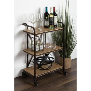 Grote Metal Bar Cart by Williston Forge