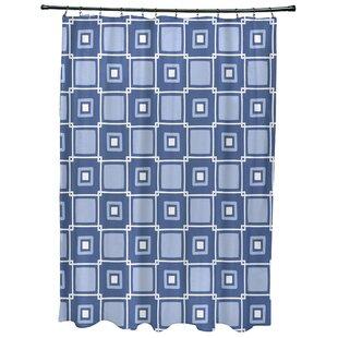 Cedarville Square Geometric Print Shower Curtain ByHighland Dunes