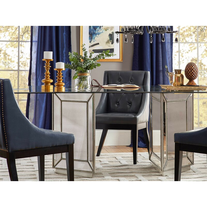 Frasier Mirrored Dining Table