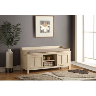 August Grove Caw Wood Storage Bench