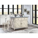 Speece Kitchen Island Set with Cement Top by Rosalind Wheeler