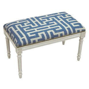 Lark Manor Aliyah Upholstered and Wood Bench