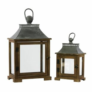 2 Piece Wood Lantern by Darby Home Co