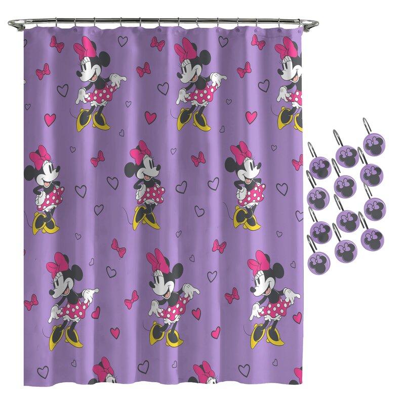 Disney Minnie Mouse Love Shower Curtain Wayfair
