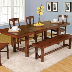 Snowshoe 6 Piece Dining Set by Loon Peak