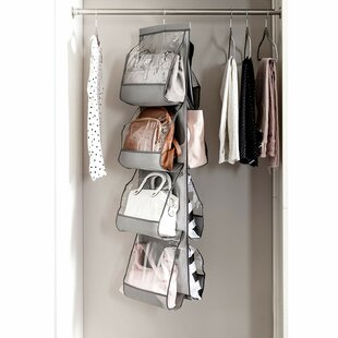 Purse For Closet Handbag Pockets Hanging Organizer With 360 Swivel Hook