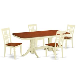 Beesley 5 Piece Rectangular Wood Dining Set DarHome Co