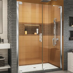 Elegance-LS 54.5 x 72 Pivot Frameless Shower Door with ClearMax™ Technology by DreamLine