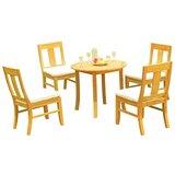 Kevon 5 Piece Teak Dining Set