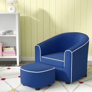 Navy Blue Chair With Ottoman Wayfair