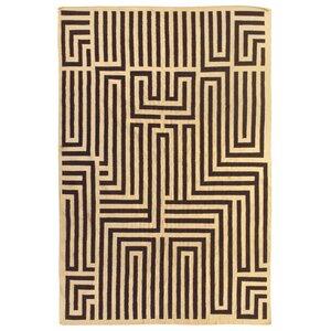 Flat Weave Ivory/Dark Brown Area Rug