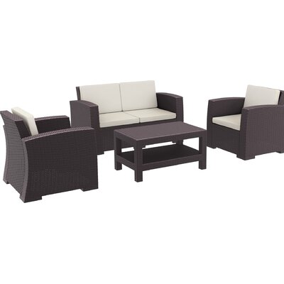 Tremendous Bellini Marcelo 6 Piece Sunbrella Sofa Set With Cushions Ncnpc Chair Design For Home Ncnpcorg