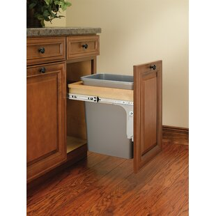 Top Mount 8.75 Gallon Pull Out/Under Counter Trash Can by Rev-A-Shelf