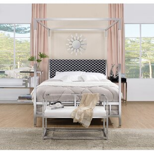 Everly Quinn Firkins Queen Upholstered Canopy Bed