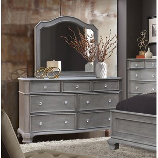 Block 7 Drawer Double Dresser with Mirror