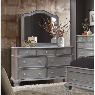 Block 7 Drawer Double Dresser with Mirror