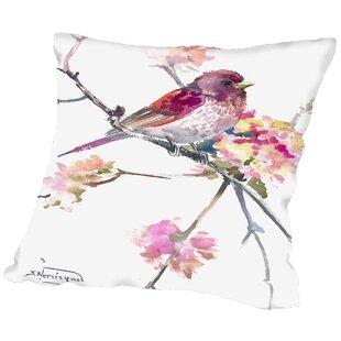 Conesville Rosefinch Throw Pillow