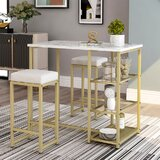 Kemal 3 - Piece Counter Height Dining Set by Mercer41