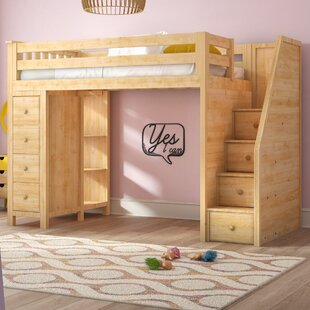 Top Reviews Ayres Twin Wood Loft Bed with Staircase by Harriet Bee Reviews (2019) & Buyer's Guide