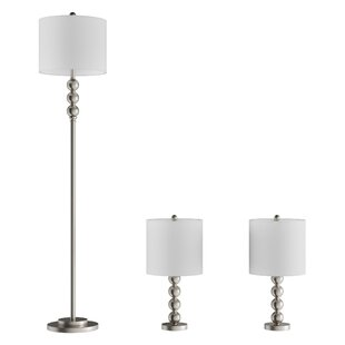 Plaza 3 Piece Table and Floor Lamp Set