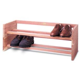 Woodlore 1-Tier 4 Pair Shoe Rack
