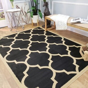 Reviews Kinner Moroccan Trellis Black Area Rug By Charlton Home