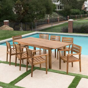 Union Rustic Mangrum 9 Piece Extendable Dining Set