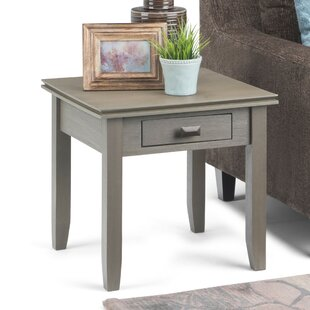 Gosport End Table with Storage by Three Posts