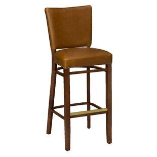 Beechwood Fully Upholstered Seat Bar Stool