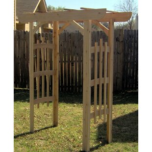 Threeman Products Decorative Cedar Wood Arbor