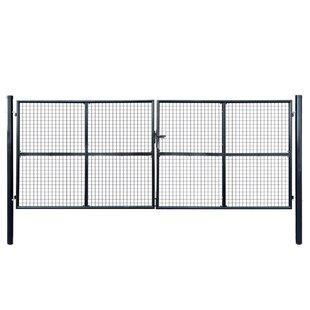 Peasnell Garden 13' X 5' (4m X 1.5m) Metal Gate By Sol 72 Outdoor