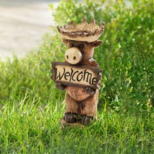 Welcome Moose Statue by Sunjoy