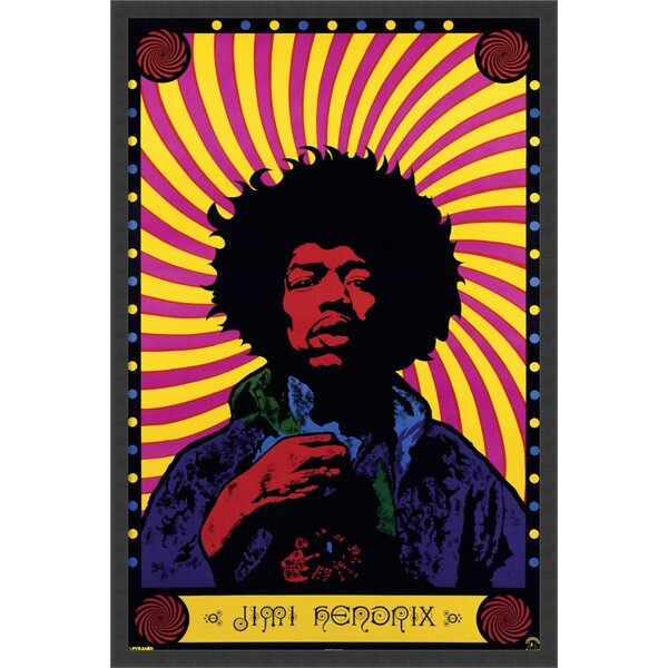 imi Hendrix Psychedelic by Anonymous Framed Graphic Art