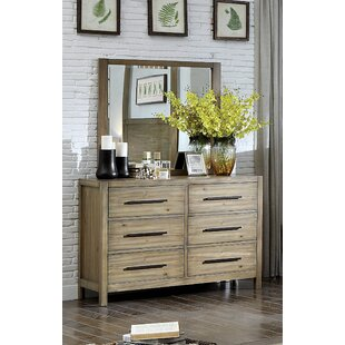 Union Rustic Peres 6 Drawer Double Dresser w..