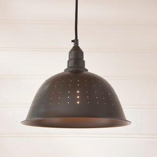 Gracie Oaks Long 1-Light Dome Pendant
