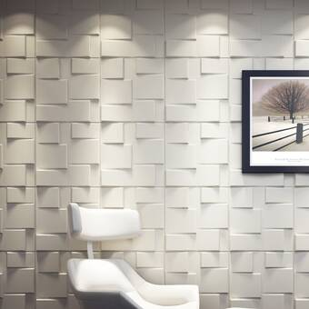 Orren Ellis Lynnfield 19 7 X 19 7 Bamboo Wall Paneling In White Reviews Wayfair