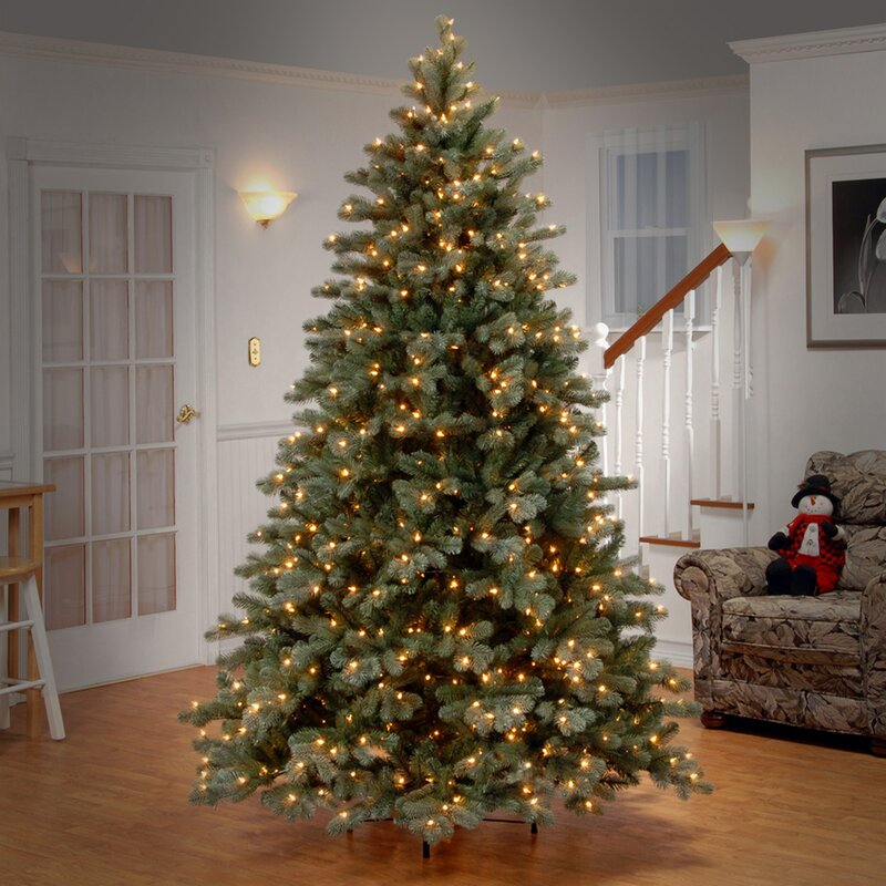 Charming Artificial Christmas Tree With Clear And Colored Lights Part - 11: Flocked Christmas Trees Youu0027ll Love   Wayfair