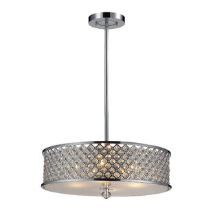Rosdorf Park Abram 4-Light Drum Pendant