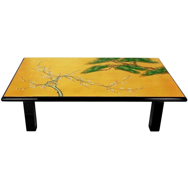 oriental furniture gold leaf coffee table & reviews | wayfair