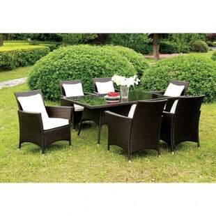 Allendale Ultra Comfortable Wicker Patio Dining Table by Canora Grey