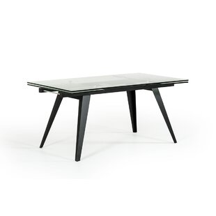 Clower Contemporary Extendable Glass Top Dining Table Orren Ellis
