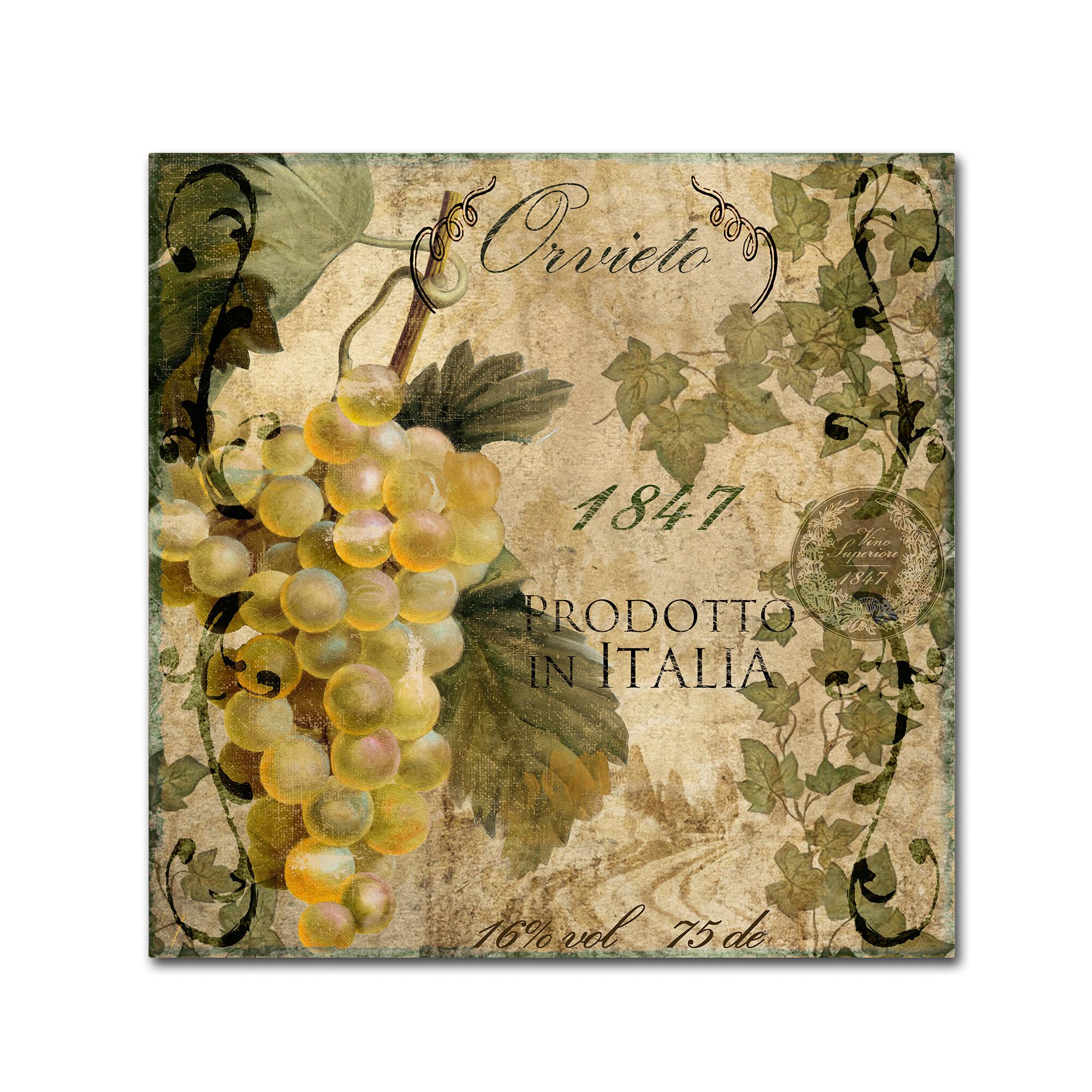 Trademark Art \'Vino Italiano IV\' by Color Bakery Vintage ...
