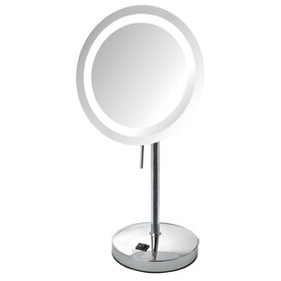 Jerdon LED Lighted Tabletop 8x Magnification Mirror