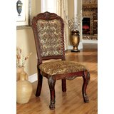 Choudhury Linen Queen Anne Back Side Chair in Brown (Set of 2) by Astoria Grand
