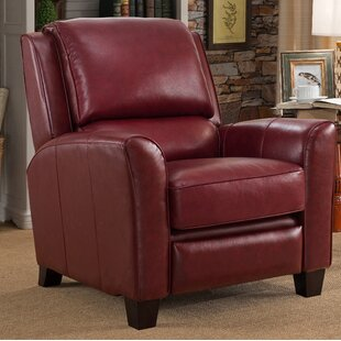 Compare & Buy Surrett Red Leather Manual Recliner by Red Barrel Studio Reviews (2019) & Buyer's Guide