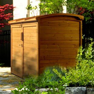 D Wooden Horizontal Garbage Shed