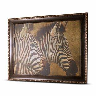 U0027Zebrau0027 Framed Painting Print On Canvas. By Crystal Art Gallery